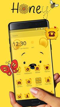 Cuteness Yellow Pooh Bear Theme スクリーンショット 1