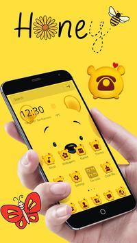 Cuteness Yellow Pooh Bear Theme スクリーンショット 2