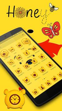 Cuteness Yellow Pooh Bear Theme スクリーンショット 3