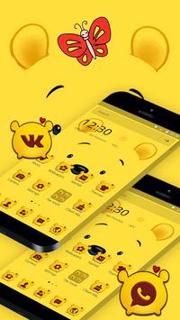 Cuteness Yellow Pooh Bear Theme スクリーンショット 4