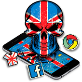 Union Jack Flag Skull Theme アイコン