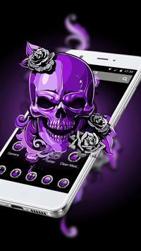 Purple Horror Skull 2D Theme poster