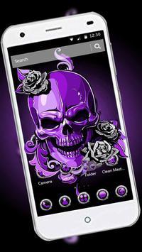 Purple Horror Skull 2D Theme screenshot 1