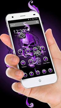 Purple Horror Skull 2D Theme screenshot 2