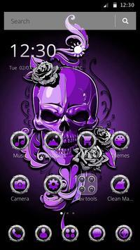 Purple Horror Skull 2D Theme screenshot 3