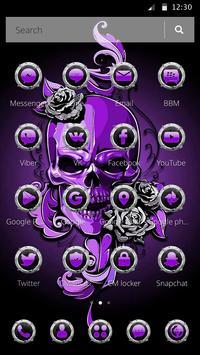 Purple Horror Skull 2D Theme screenshot 4