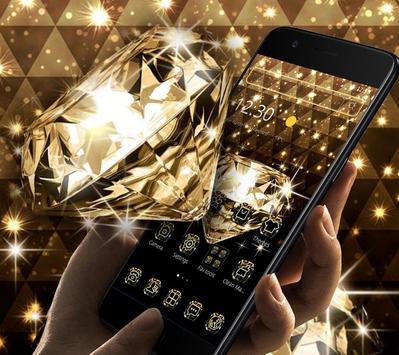 Gold Glitter Sparkling Diamond Theme poster