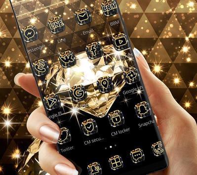 Gold Glitter Sparkling Diamond Theme screenshot 1