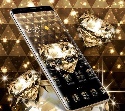 Gold Glitter Sparkling Diamond Theme screenshot 2