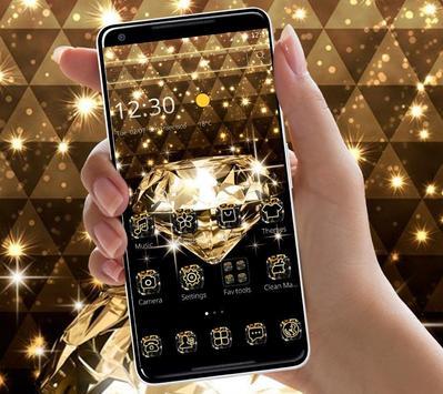 Gold Glitter Sparkling Diamond Theme screenshot 3