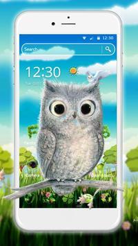 Cute Owl 2D Theme poster