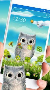 Cute Owl 2D Theme screenshot 1