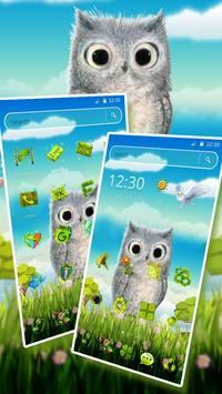Cute Owl 2D Theme screenshot 2