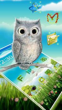 Cute Owl 2D Theme screenshot 3