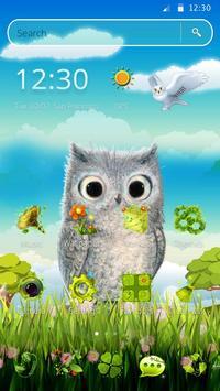 Cute Owl 2D Theme screenshot 4