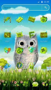 Cute Owl 2D Theme screenshot 5