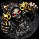 Gold Fire Gun Warrior Skull Theme APK