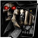 Dark Immortal Pointing Skull Theme APK