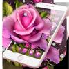 Lovely Pink Rose Blossom Theme simgesi
