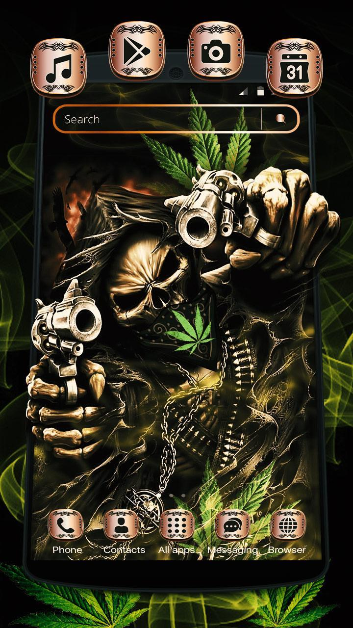 Weed Ghost Gun Launcher Theme for Android - APK Download