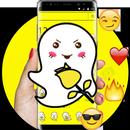 Cartoon Yellow Elfin Emoji Theme APK