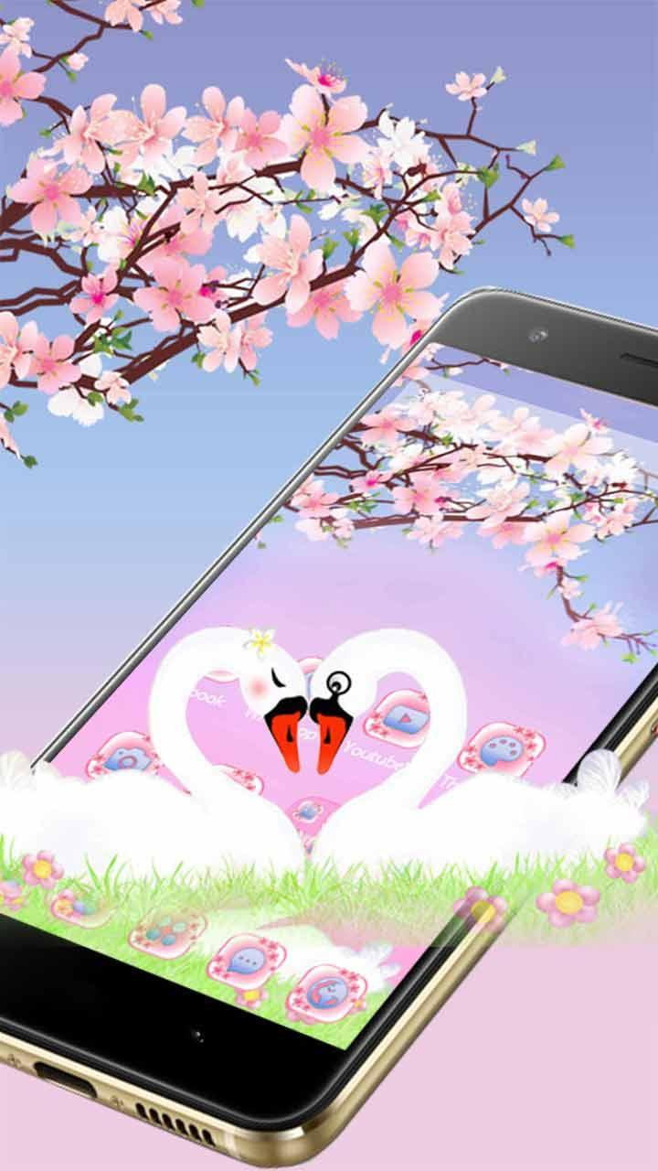 Beautiful Swan Love 2D Theme for Android - APK Download