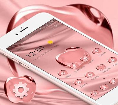 Rose Gold Color Crystal Apple Theme screenshot 3