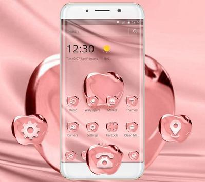 Rose Gold Color Crystal Apple Theme screenshot 5