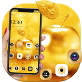 Gold Luxury Apple Theme For XS icon
