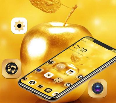 Gold Luxury Apple Theme For XS screenshot 1