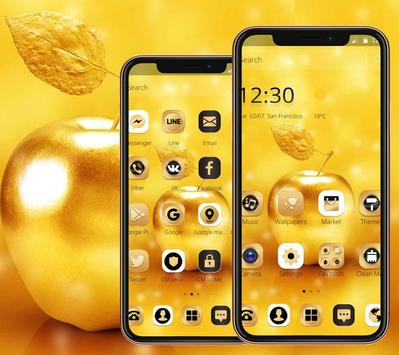 Gold Luxury Apple Theme For XS screenshot 2