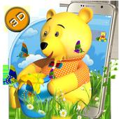 Teddy Bear Cartoon 3D Theme icon