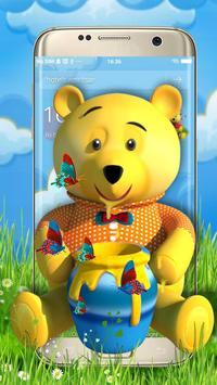 Teddy Bear Cartoon 3D Theme poster