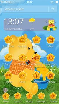 Teddy Bear Cartoon 3D Theme apk screenshot