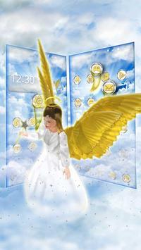 Beautiful Golden 3D Holly Angel Theme apk screenshot