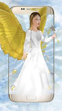 Beautiful Golden 3D Holly Angel Theme poster