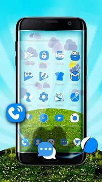 Blue Cat 3D Mobile Theme poster