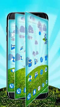 Blue Cat 3D Mobile Theme apk screenshot