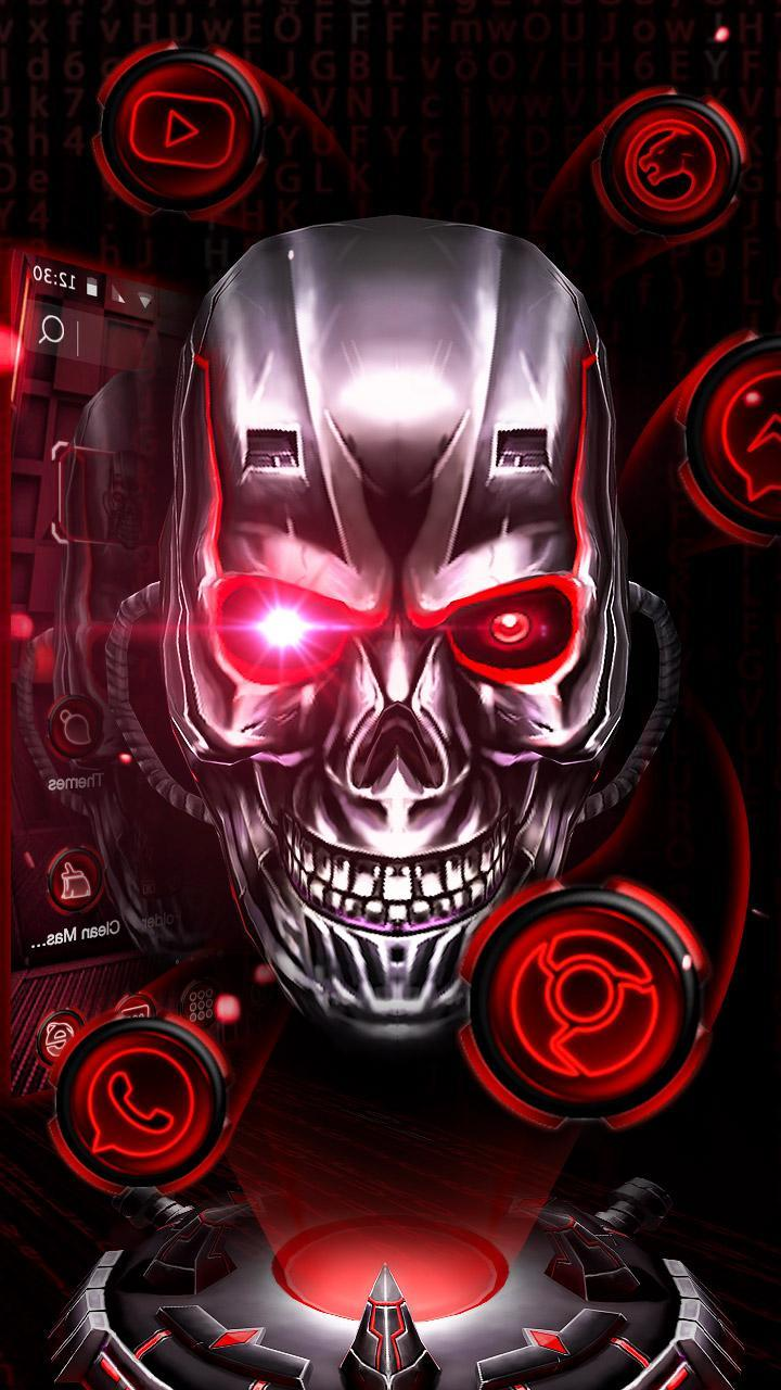 Neon Tech Skull 3D Theme For Android APK Download