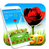 Rose Love 3D Theme icon