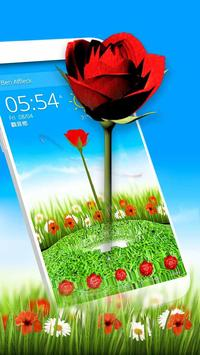 Rose Love 3D Theme poster