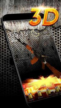 Gun 3D Theme poster