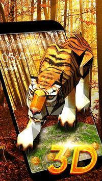 3D Tiger Theme poster
