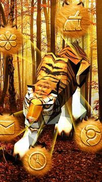 3D Tiger Theme apk screenshot