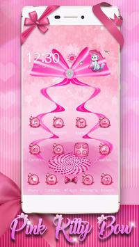 3D switch Pink Color Cute Bow Theme (FREE) apk screenshot