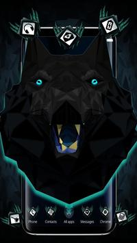 Abstract Black Wolf 3D Mobile Theme poster