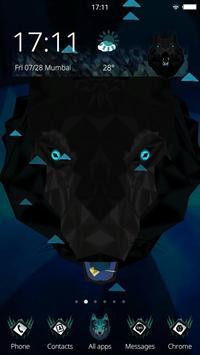 Abstract Black Wolf 3D Mobile Theme apk screenshot