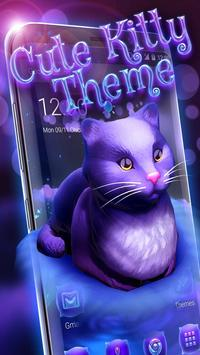 Cute Kitty - Purple Dreamy Launcher poster