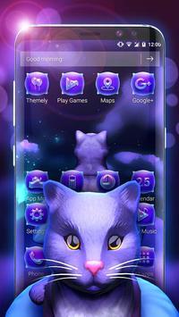 Cute Kitty - Purple Dreamy Launcher screenshot 1