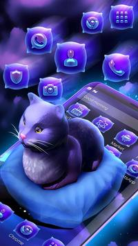 Cute Kitty - Purple Dreamy Launcher apk screenshot